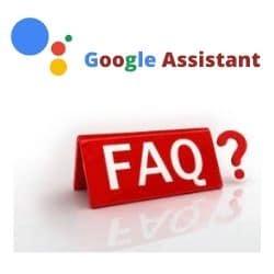 google assistant faq